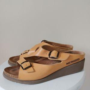 Mephisto Elka Strappy Wedge Sandal  EU 40 US 9